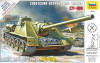 Zvezda Snap Kit military 5044 - Soviet Tank Destroyer SU-100 (1:72)