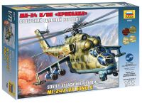 Zvezda Model Kit vrtulník 7293 - MIL MI-24V/VP Hind E (1:72)