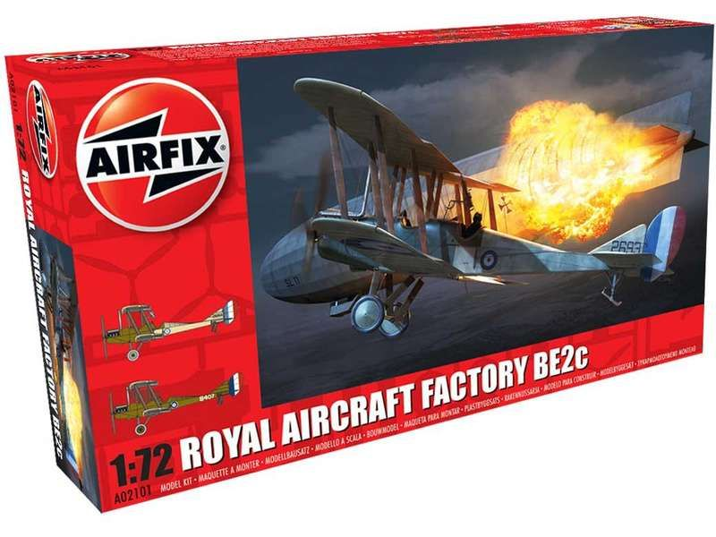 Airfix Clasic Kit letadlo A02101 - Royal Aircraft Facility BE2C (1:72)