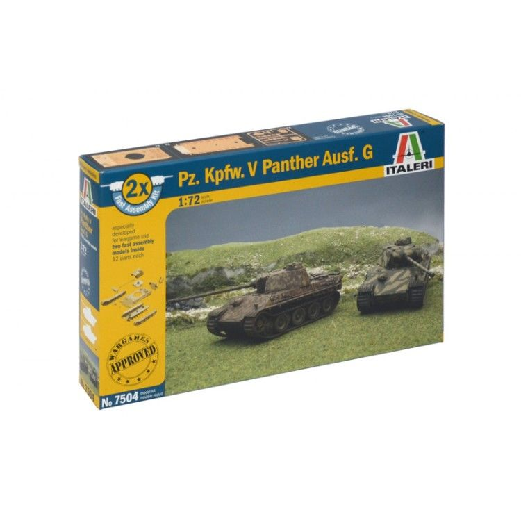 Italeri Fast Assembly tanky 7504 - Pz.Kpfw.V PANTHER Ausf.G (1:72)