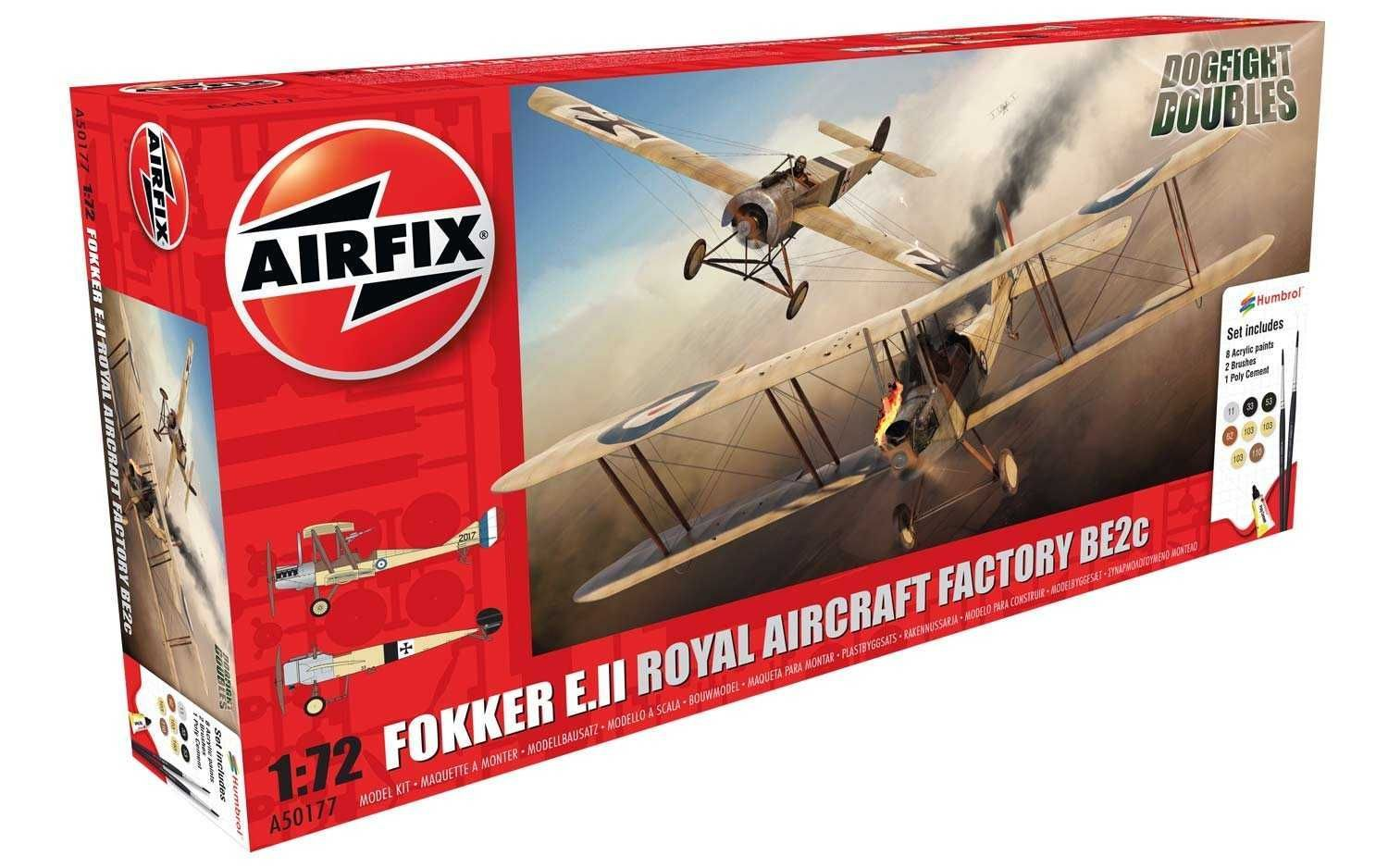 Airfix Gift Set letadlo A50177 - Fokker EII/BE2C Dog Fight Double (1:72)