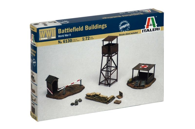 Italeri Model Kit budova 6130 - BATTLEFIELD BUILDINGS (1:72)