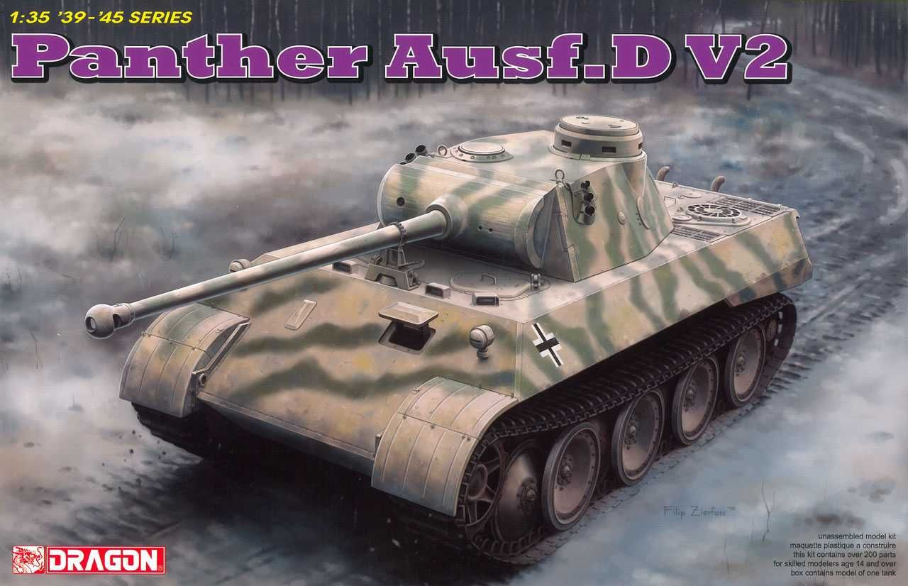 Dragon Model Kit tank 6822 - Panther Ausf.D V2 (1:35)