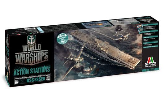 Italeri Model Kit World of Warships 46503 - U.S.S. ESSEX (1:700)